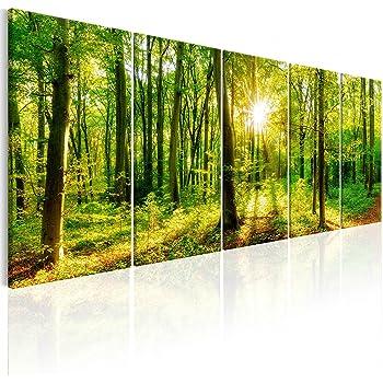 Leinwand-Bilder Wandbild Canvas Kunstdruck 125x50 Sonne Gebirge Natur