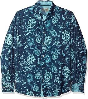 Men's Long Sleeve Pineapple Paisley Print Shirt