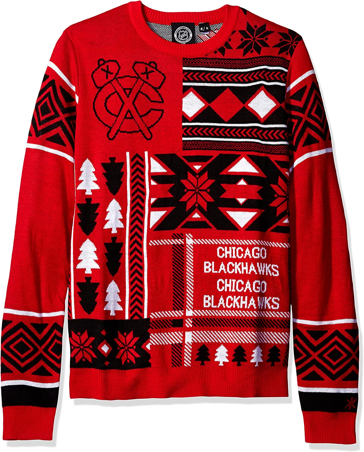 FOCO NHL Unisex Sales for sale Patches Max 84% OFF Ugly Neck Sweater Crew