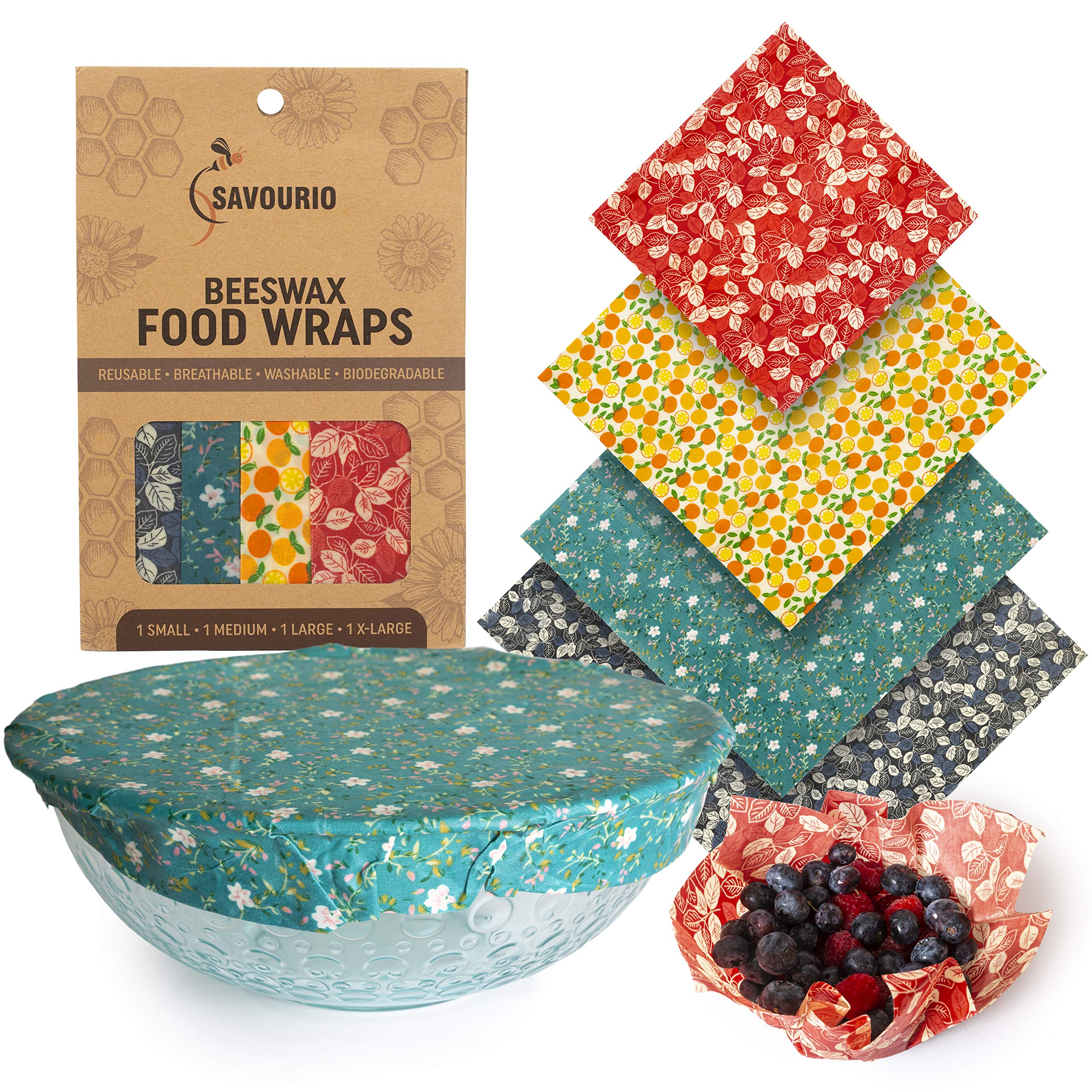 Savourio – Envoltorios reutilizables para alimentos de cera de ...