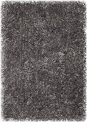 Tapis accentuation d'intérieur hirsute tufté à la main, collection 0, SG267, en gris, 61 X 91 cm pour le salon, la chambre ou tout autre espace intérieur par SAFAVIEH.