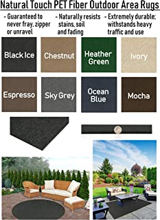 Indoor - Outdoor Area Rugs and Runners Constructed with Superior PET Fiber Made from 100% Purified Recycled Bottles. (9' x 12', Sky Grey)