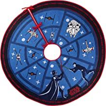 Hallmark Keepsake Ornament 2019 Year Dated Force is Strong Christmas Light, Star Wars Tree Skirt