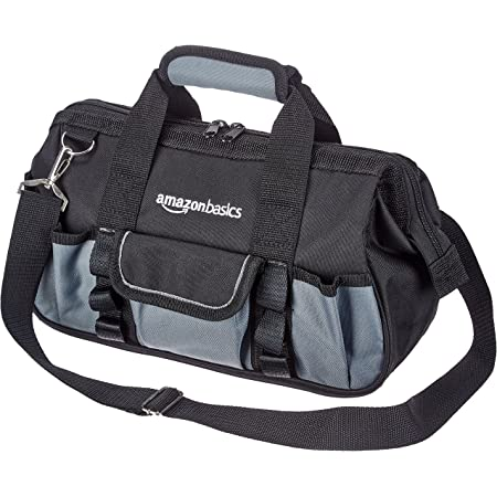 Amazon Basics Durable, Wear-Resistant Base, Tool Bag with Strap, Small (12 Inch)