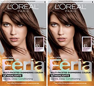 L'Oreal Paris Feria Multi-Faceted Shimmering Permanent Hair Color, French Roast, 2 Count Hair Dye