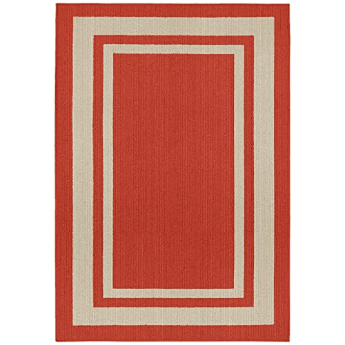 Indoor Outdoor Rugs 5x7 Red Amazon Com