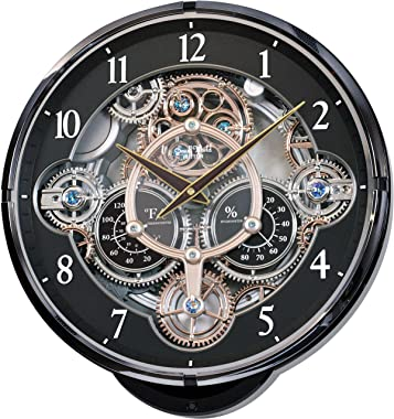 "Rhythm Clocks""Gadget"" Magic Motion Clock, Black"