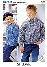 Sirdar Denim Tweed DK Crochet Pattern #4068 Children's Sweaters