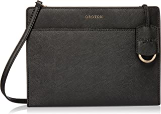 Oroton Women's Maison Crossbody Bag, Black, One Size