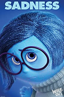 Sadness - Inside Out Movie Poster 24 x 36, Glossy Finish (Thick): Joy, Fear, Anger, Disgust, Sadness
