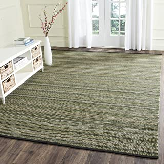 Safavieh Striped Kilim Collection STK421B Hand Woven Green Premium Wool Area Rug (5' x 8')