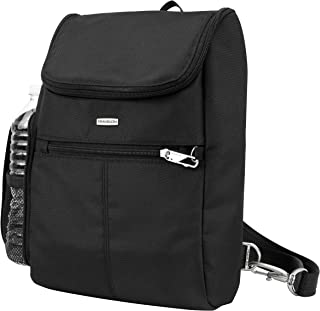 Travelon Anti-Theft Classic Convertible Backpack, Black (Black) - 43045 500