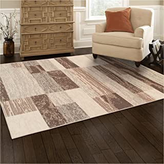 Superior Modern Rockwood Collection Area Rug, 8mm Pile Height with Jute Backing, Textured Geometric Brick Design, Anti-Static, Water-Repellent Rugs - Slate, 4' x 6' Rug