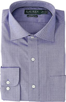 Classic Fit No-Iron Herringbone Dress Shirt
