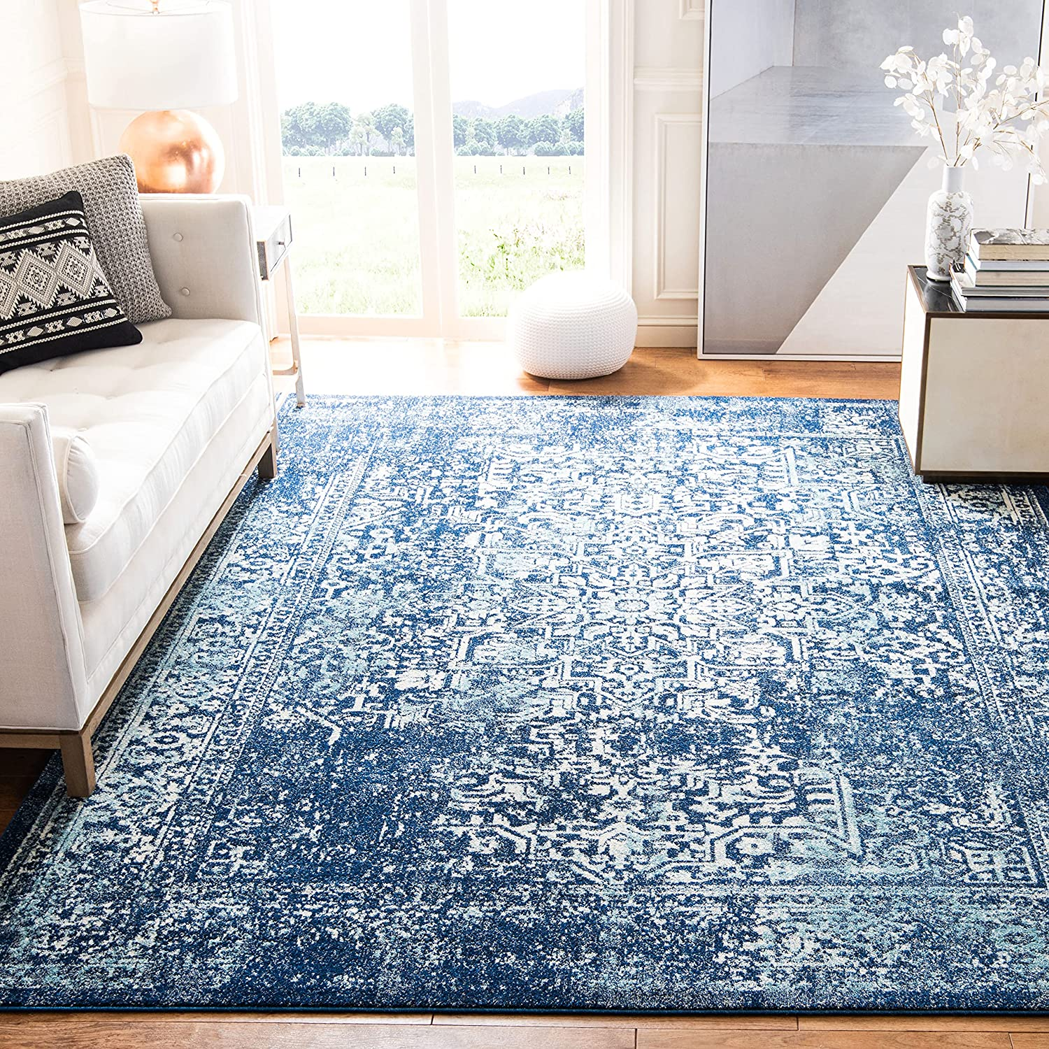 Safavieh Limited time trial price Evoke Collection EVK256A Non-Sheddi Oriental Purchase Distressed