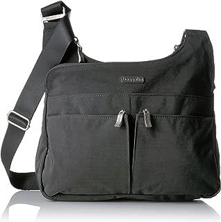 Baggallini Cross Over Crossbody Bag - Lightweight, Water Resistant Travel Purse