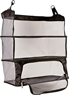 Women's Deluxe Packable Shelves with Zippered Compartment, Black