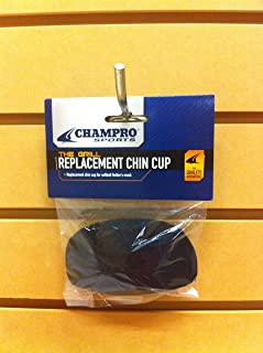 CHAMPRO Softball Fielder's Facemask Chin Cup, Black