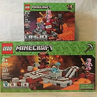 LEGO Minecraft The Nether Railway & LEGO Minecraft the Nether Fight