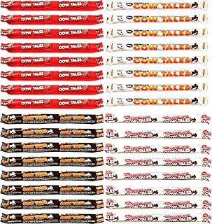 Goetze's Cow Tales 1oz Variety Pack of 32 Strawberry Chocolate Caramel Apple and Vanilla