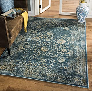 Safavieh Evoke Collection EVK510K Vintage Oriental Light Blue and Beige Area Rug (9` x 12`)