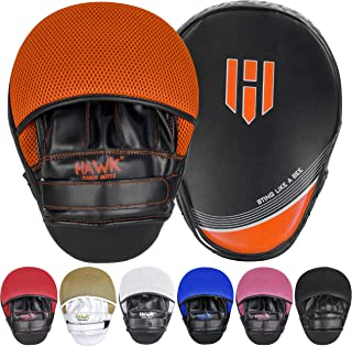 Punching Mitts Kickboxing Muay Thai MMA Boxing Mitts Training Focus Punch Mitts Bags Hand Target Pads for Kids, Men & Women (Pair)