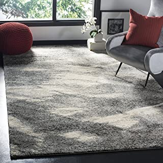 Safavieh Retro Collection RET2891-8012 Modern Abstract Grey and Ivory Area Rug (10` x 14`)
