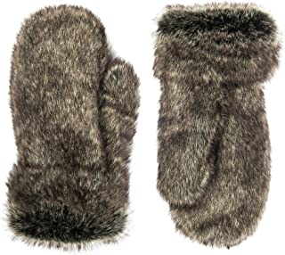 Futrzane Winter Gloves Women Men Mittens Made Of Rabbit Faux Fur
