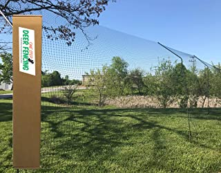 ONE Step Deer Fence Posts - No Equipment or Tools Required, 4 Sturdy Steel Posts for 7 ft. Fence,
