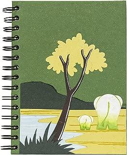 Mr. Ellie Pooh Handmade Fair Trade Green Momma & Baby Butt Elephant Notebook Journal Sketch Book