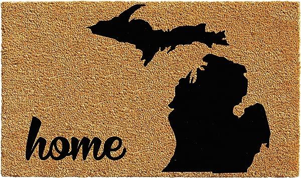 Calloway Mills 102912436 Michigan Doormat 24 X 36 Natural Black