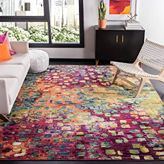Safavieh Madison Collection MAD425D Boho Abstract Distressed Non-Shedding Stain Resistant Living Room Bedroom Area Rug 8' ...