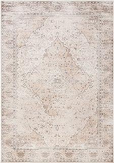 Safavieh Viscose Tapis Rectangulaire Médaillon Vintage Tressé Collection Atlante Blanc Ivoire Beige 160 x 231 cm