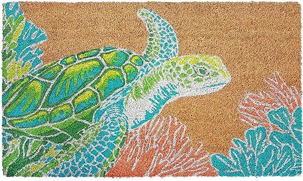 Kensington Row Coastal Collection DOORMATS Turtle Creek Vinyl Back Coir Welcome MAT 18 X 30 SEA Turtle Doormat