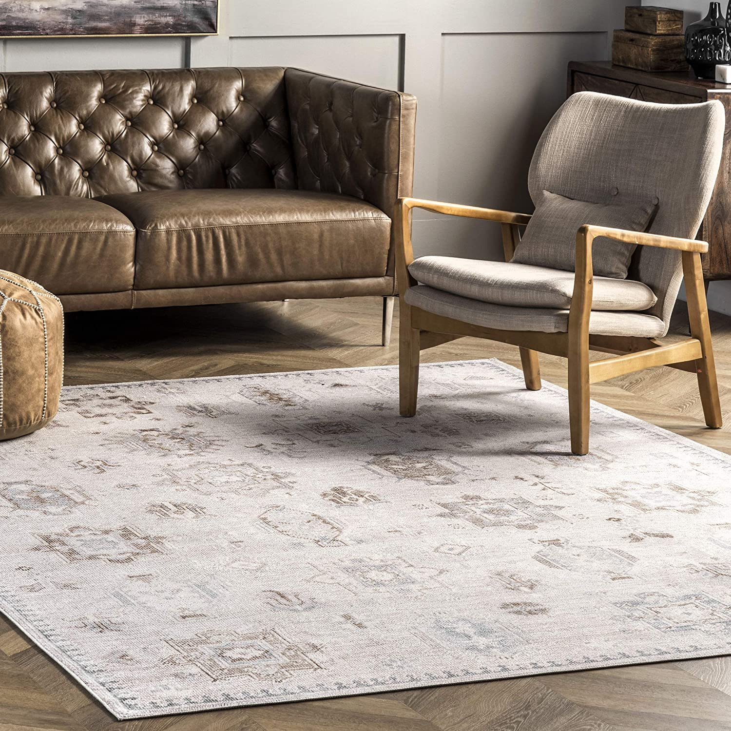 nuLOOM Krystin Machine 2021 new Washable Distressed Area 6' x Rug Be A surprise price is realized 4'