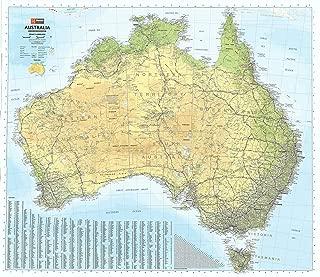Australia Hema 1000 x 875mm Road & Terrain Paper Wall Map