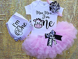 Farm Birthday Outfit, Cow Birthday, Baby Girls First Birth day Tutu, Cow Birthday Shirt, Baby Girl Diaper Cover, Western Birthday Party