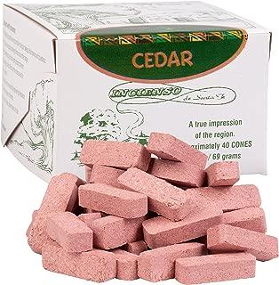 Cedar Wood Incense - 40 Bricks (Cones) by Incienso De Santa Fe