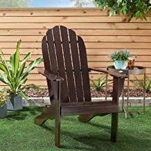 Mainstay Adirondack Chair Black l l 26.50 x 34.00 x 40.25 l Comfortable Wide Backrest Kitchen