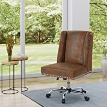 Christopher Knight Home Quentin Desk Chair, Brown + Chrome