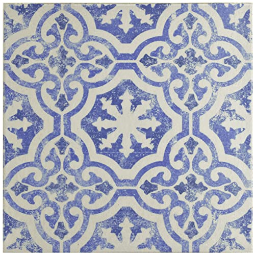 Blue And White Kitchen Floor Tile Amazon Com