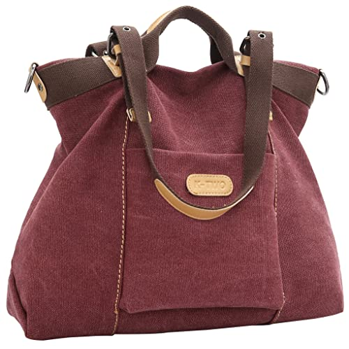 f40d33ac75a6 Z-joyee Women Shoulder bags Casual Vintage Hobo Canvas Handbags Top Handle  Tote Crossbody Shopping