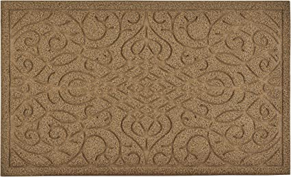 Superio Non Slip Welcome Doormat For Entry Indoor Outdoor Heavy Duty Waterproof Easy Clean Low Profile Mats For Entry Garage Patio High Traffic Areas Natural Victorian Gate Coir 18 X30 Garden