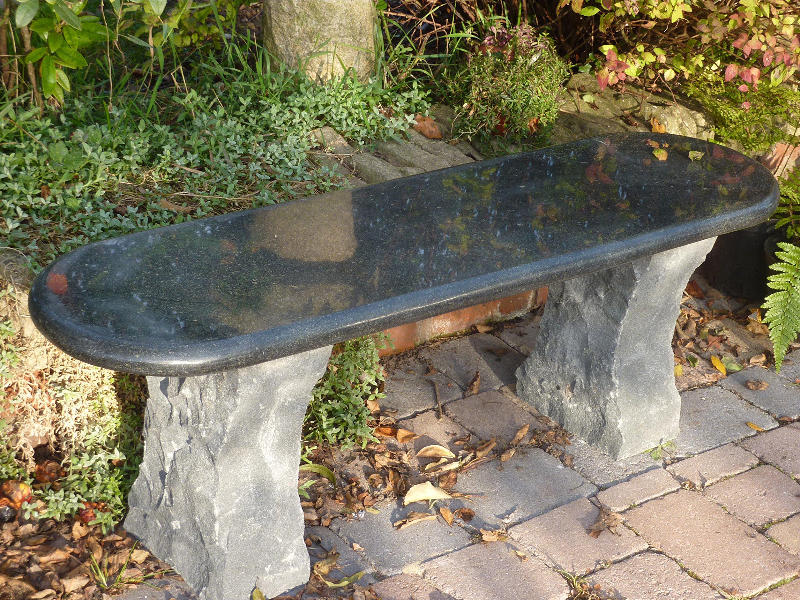 Aston niños Tamaño Grande Garden - Natural granito piedra color negro banco: Amazon.es: Jardín