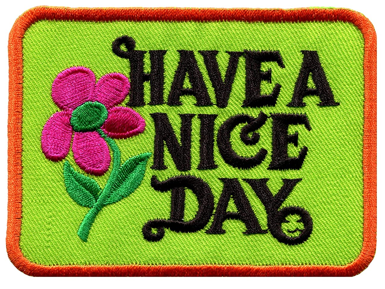 Have a Nice Day 70s slogan hippie retro boho weed love applique iron-on patch new fwcandyulkggj491