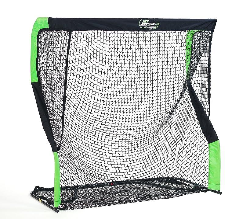 The Net Return Jr. Standard Multi-Sport Hitting Net (Black/Green)