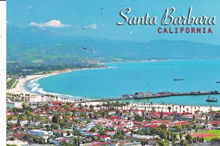 0493 SANTA BARBARA CALIFORNIA POSTCARD RED TILE ROOFS - Famous for its red tile roofs. .. POST CARD .. from Hibiscus Express