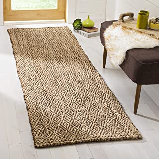 "Safavieh Natural Fiber Collection NF183A Handmade Boho Farmhouse Fringe Jute Accent Rug, 2'3"" x 4', Brown"