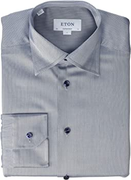 ae0f7b289 Eton contemporary fit gingham bulldog shirt | Shipped Free at Zappos
