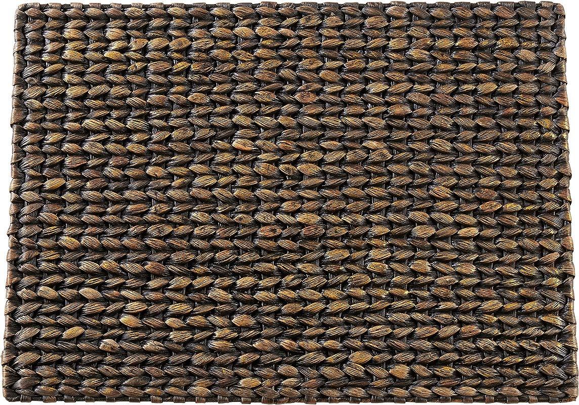 SARO LIFESTYLE 1053 BK1419B Kailua Collection Woven Water Hyacinth Placemats Set Of 4 14 X 19 Black